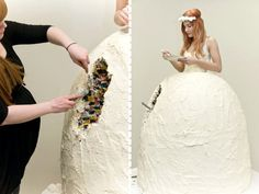 Top 10 Wedding Cake Bridal Shower Cakes for Her Worst Wedding Dress, Unique Wedding Gowns, Wedding Dress Cake, Sexy Wedding Dresses, One Shoulder Wedding Dress, Wedding Ideas, Lace Wedding, Dream Wedding, Crazy Wedding Cakes