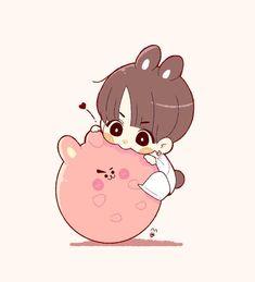 Baby Bunny and Cooky Jungkook Fanart, Vkook Fanart, Jungkook Cute, Bts Chibi, Anime Chibi, Anime Naruto, Bts Drawings, Kawaii Drawings, Dibujos Cute