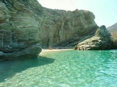 Beautiful hidden beach of Folegandros island! Around The World In 80 Days, Around The Worlds, Dream Vacations, Vacation Trips, Places In Greece, Prince, Hidden Beach, Beach Scenes, Greek Islands
