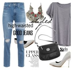 """High-Waisted Jeans"" by ansev ❤ liked on Polyvore"