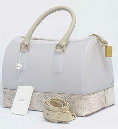 Furla Handbag  (Candy Satchel, White Handbags)