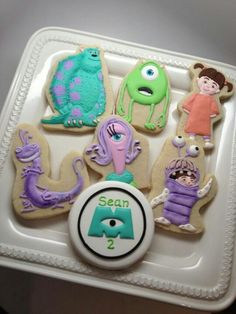 Monsters Inc. Cookies - For all your cake decorating supplies, please visit craftcompany.co.uk