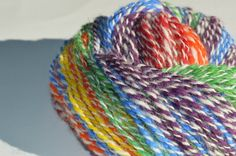 This super soft yarn is handspun and hand dyed using 100% Alpaca. It is a two-ply, Aran weight yarn that is perfect for a variety of