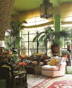 If you are fans of a fresh and colorful interior decor, using indoor plants to decorate your interior can be one of easiest ways to make a home feel more lived-in and relaxed. Adding large indoor p… Style At Home, Bohemian Style Home, Bohemian Interior, Bohemian Living, Bohemian Room, Bohemian Decor, Bohemian Homes, Bohemian Apartment, Bohemian Bedrooms