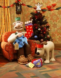 Wallace and Gromit... how can you not like them? Guess what Gromit got for Christmas!!