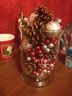 Festive hurricane vase