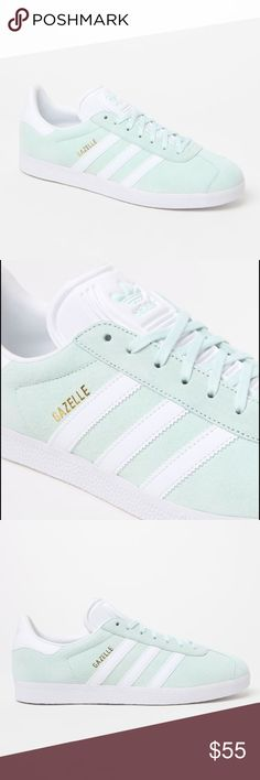 Mint Green Adidas Originals Gazelles Brand new mint green Adidas Originals Suede Gazelles in mint green with white souls. Size 7.5 in womens. Perfect condition and super comfortable adidas Shoes Sneakers