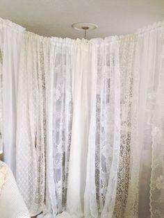 Boho Chic Lace Wedding Backdrop Shabby Chic by DenaDanielleDesigns