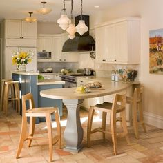 Wonderful Eat in Kitchen Tables Design: Cozy Rustic Kitchen Design With Counter For Eat In Kitchen Tables ~ oiprs.com Furniture Inspiration