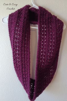 Plumberry Infinity Scarf - free crochet pattern at Cute & Cozy Crochet