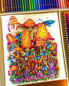 Coloring Book Art, Colouring Pages, Adult Coloring, Pencil Art Drawings, Art Sketches, Forest Drawing, Hanna Karlzon, Johanna Basford Coloring Book, Markova