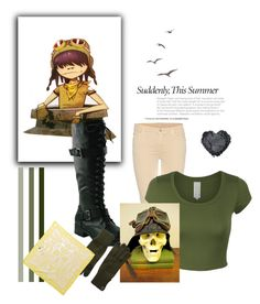 """""""Gorillaz Noodle - Dirty Harry"""" by missbenzidrine ❤ liked on Polyvore featuring 7 For All Mankind, Arc'teryx, Alexander McQueen, gorillaz, Noodle and dirtyharry"""