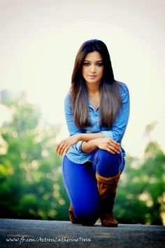 Catherine Tresa Hot Pics in Blue Dress, Jeans & Top Senior Girl Poses, Girl Photo Poses, Girl Photos, Senior Pics, Foto Casual, Jean Top, Girls Dpz, Hottest Pic, South Indian Actress