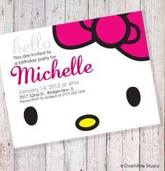 Pink and Gold Birthday Invitation (DIGITAL FILE)