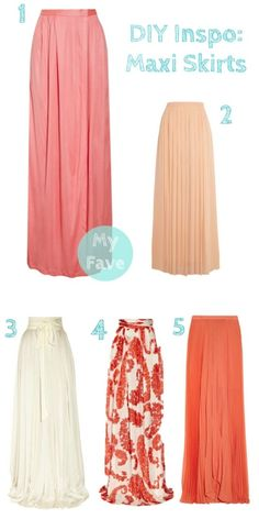DIY Inspiration: Maxi Skirts