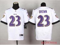 $22 for Wholesale cheap Nike Baltimore Ravens #23 Chykie Brown White Men's Stitched Elite NFL Jersey .St.Louis Rams Nike Jerseys Jersey,Tampa Bay Buccaneers Nike Jerseys,Tennessee Titans Nike Jerseys,Washington Redskins Nike Jerseys, and more jerseys sale on www.xpjerseys.us
