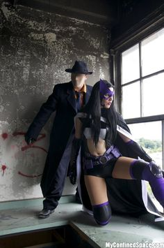 Question & Huntress. Excellent team up, I like both characters. I recommend you watch Birds of Prey. On DVD or catch it on youtube.
