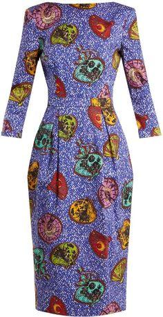 Stella Jean Graphic-print boat-neck dress