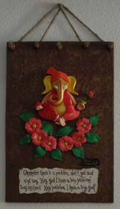 ganesha (mangalmurti) on maple imprinted indian wood: rustic look Wood Projects For Kids, Clay Projects, Clay Crafts, Diy Crafts For Kids, Arts And Crafts, Clay Wall Art, Clay Art, Diy Diwali Decorations, Mural Art
