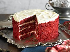 How to make red velvet cake - impress your friends with this four layer red velvet and white chocolate cake