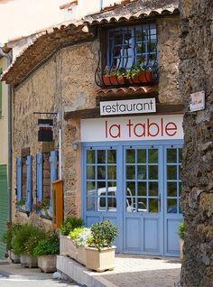 Restaurant La Table, Tourtour, Provence