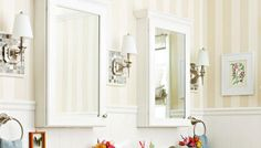 These 6 Easy Projects Will Totally Transform Your Bathroom: Tile Some Wall Sconces