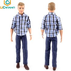 4.32$  Watch here - http://alikqs.shopchina.info/go.php?t=32670982417 - UCanaan Toys 1 PC Ken Doll's Clothes Suit Casual Wear Plaid Doll Clothes Jacket Pants Outfits For Ken Babie Dolls Accessories  #magazineonlinebeautiful
