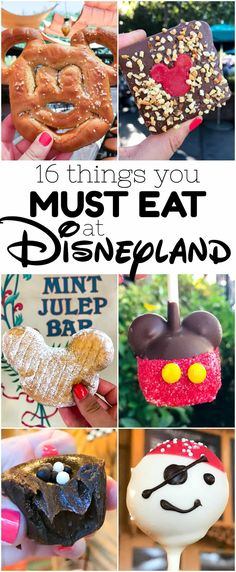 16 Things you MUST EAT at Disneyland - don't miss these restaurants and treats when you're at Disneyland, from meals to candy to snacks!