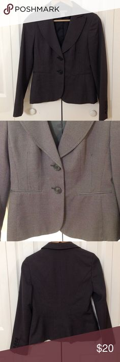 "Tailored Sexy-Elegant Jacket Tailored, fitted, elegant-sexy, salt & pepper color, 2 front buttons, 4 buttons in the sleeves, 2 front pockets. High quality, fully lined. 👍 FINAL SALE. NO RETURNS. ""AS IS"". Ask before buying 😉 FEEL FREE TO MAKE AN OFFER 🎉🎉🎉 Ann Taylor Jackets & Coats"
