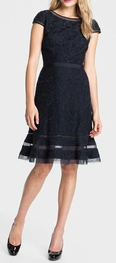 Adrianna Papell Lace Fit & Flare Dress #like it in the office #nice Business outfit