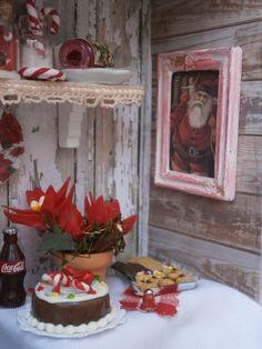 Miniatura escena. Cabaña de Santa. http://scrapsaramanus.blogspot.com.es/