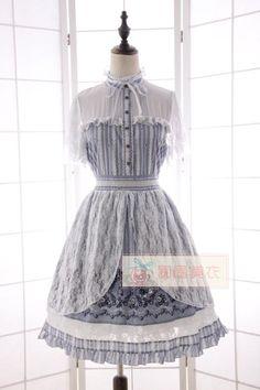 Sweet Lolita Vintage Lace Overlay Alice Dress