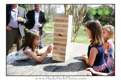 A giant game of Jenga never disappoints! Fun way to entertain guests at cocktail hour or your reception! See more from this fun wedding at http://www.hydeparkphoto.com/barr-mansion-brunch-wedding/ ||| Austin weddings, Austin wedding photographers, Texas wedding photographers, Austin wedding venues, Austin wedding venues outdoors, Barr Mansion, organic wedding venue, brunch wedding, Hyde Park Photography, wedding blog, wedding ideas