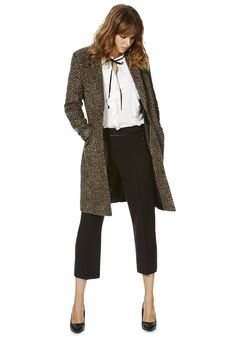 Tesco direct: F&F Leopard Print Boyfriend Coat Boyfriend Coat, Leopard Print Coat, Minimalist Chic, Capri Pants, Coats, Fashion Outfits, Clothes For Women, Sweaters, Pullover