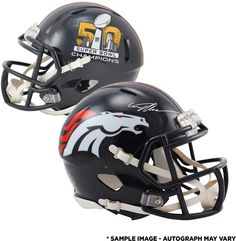 Von Miller Denver Broncos Autographed Riddell Super Bowl 50 Champions Mini Helmet