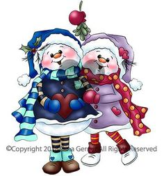 Tinsel Toes and Twinkle Berry Digi Doodles Snowman Couple Digi Stamp Christmas Vases, Cute Christmas Cards, Christmas Ornament Crafts, Snowman Crafts, Christmas Pictures, Christmas Colors, Whimsy Stamps, Digi Stamps, Christmas Drawing