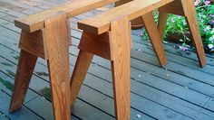 Splayed legs and strong joinery provide a sturdy base for your workshop