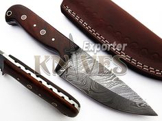 Custom Hand Forged Damascus Steel Skinner Knife, Wooden Handle KE-242 By Knives Exporter by TopQualityKnives on Etsy
