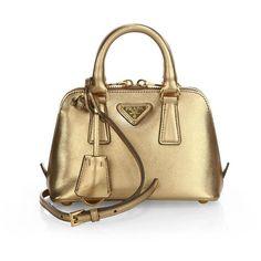 Prada Saffiano Lux Mini Promenade Bag ($1,060) ❤ liked on Polyvore featuring bags, handbags, shoulder bags, apparel & accessories, handbags crossbody, handbag satchel, mini shoulder bag, shoulder handbags and prada handbags