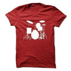 Cool Drum Kit T-Shirt - #teacher gift #bridal gift. TRY  => https://www.sunfrog.com/Funny/Cool-Drum-Kit-T-Shirt.html?id=60505