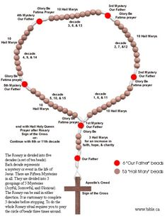 Meaning of the Rosary. Once had a patient want me to pray the rosary for her. Had no idea how. Fatima Prayer, Rosary Prayer, Praying The Rosary, Holy Rosary, Prayer Beads, Catholic Doctrine, Catholic Religion, Catholic Prayers, Rosary Catholic