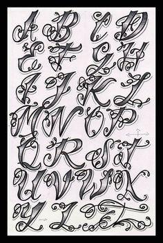 tattoo font styles - Google Search