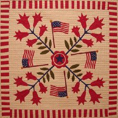 Center Medallion - a Downoadable Pattern from the Land of the Free Block of the Month