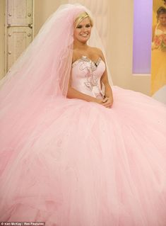 'Is it me?' Kerry Katona tries on a Thelma Madine-designed wedding dress on This Morning
