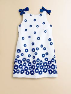Florence Eiseman - Toddler's & Little Girl's Floral Ribbon Dress, Saks Fifth Avenue Dressy Dresses, Nice Dresses, Girls Dresses, Summer Dresses, Baby Dresses, Sewing Kids Clothes, Clothes For Women, Toddler Outfits, Girl Outfits