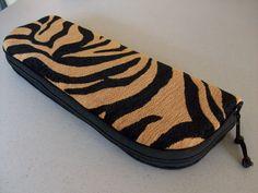 Flat Iron or Curling Iron Zipper Bag - Tiger No. 4. $27.95, via Etsy.