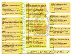 Programa de actividades del 50 aniversario de la Sociedad Mexicana de Geografía y Estadística Correspondiente de Tijuana....están todos cordialmente invitados.