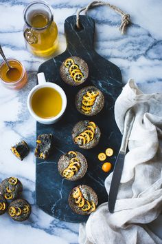 Black Sesame Kumquat Financiers {Gluten-Free}