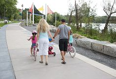Photo: Family walking along the promenade at Lake Wilcox Park Richmond Hill, Shelters, Walking, Park, City, Travel, Voyage, Animal Shelters, Shelter