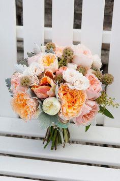 Orange Bouquet wedding